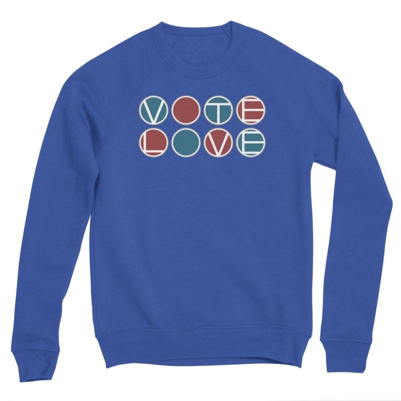 Vote Love Men's Sponge Fleece Sweatshirt by Puttyhead's Artist Shop
