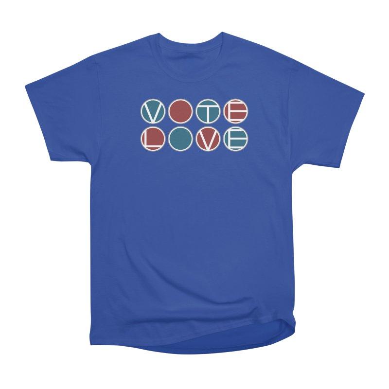 Vote Love Men's Heavyweight T-Shirt by Puttyhead's Artist Shop