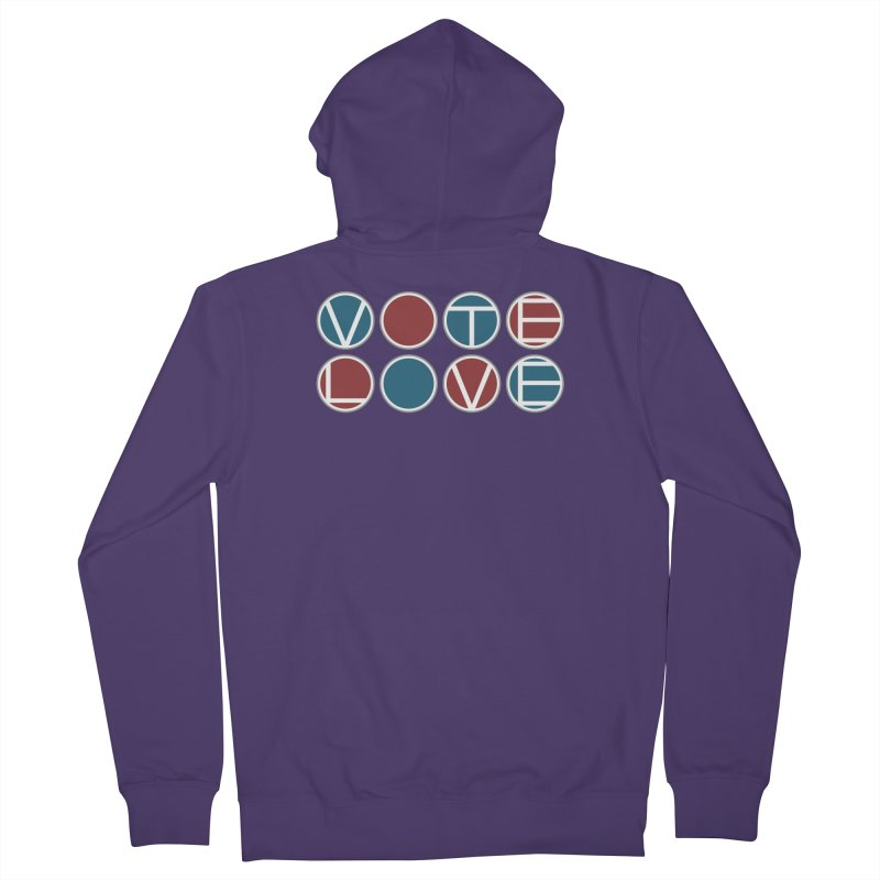 Vote Love Women's French Terry Zip-Up Hoody by Puttyhead's Artist Shop