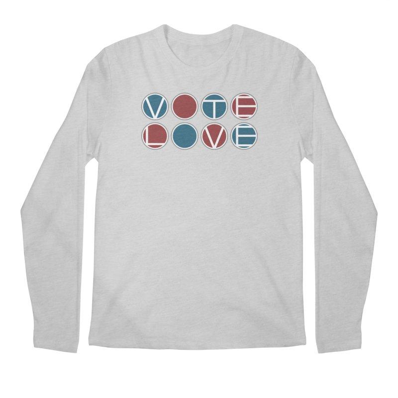 Vote Love Men's Regular Longsleeve T-Shirt by Puttyhead's Artist Shop