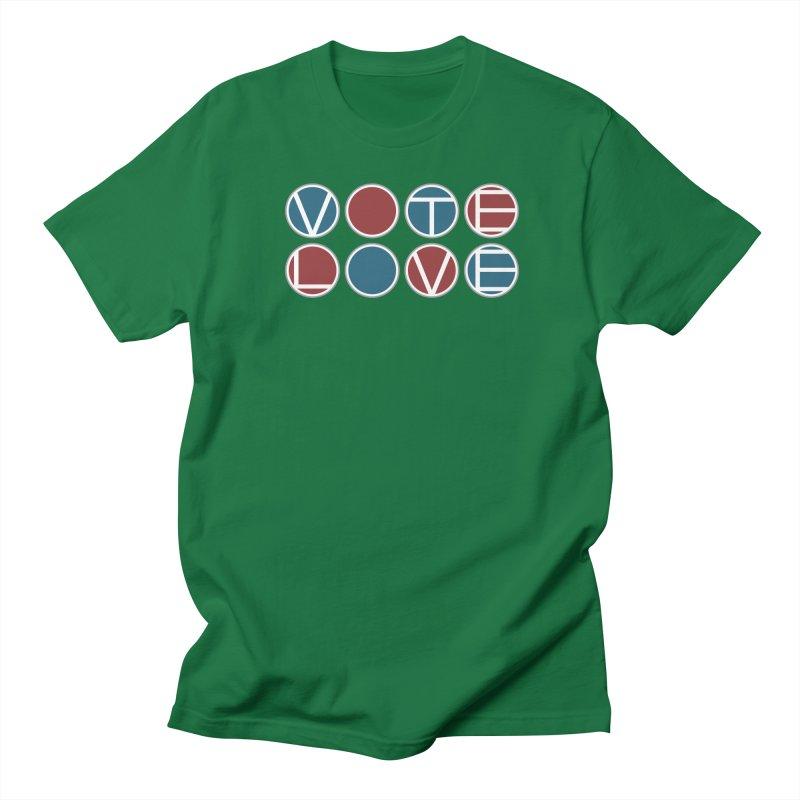 Vote Love Women's Regular Unisex T-Shirt by Puttyhead's Artist Shop