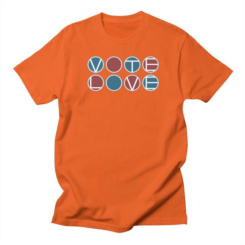 Vote Love Men's Regular T-Shirt by Puttyhead's Artist Shop
