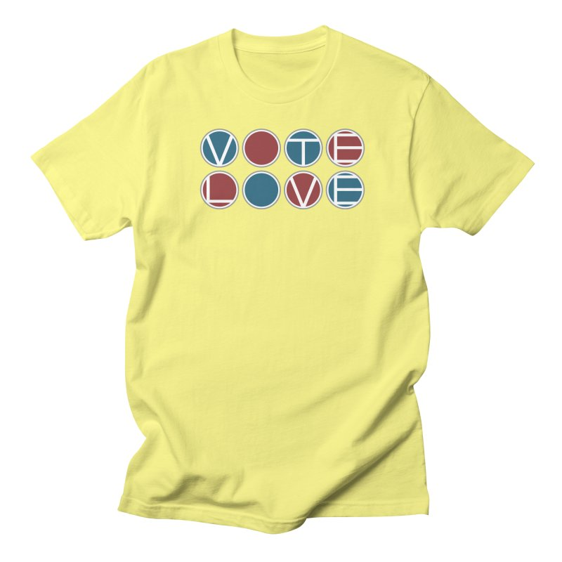 Vote Love Men's Regular T-Shirt by Puttyhead's Artist Shop