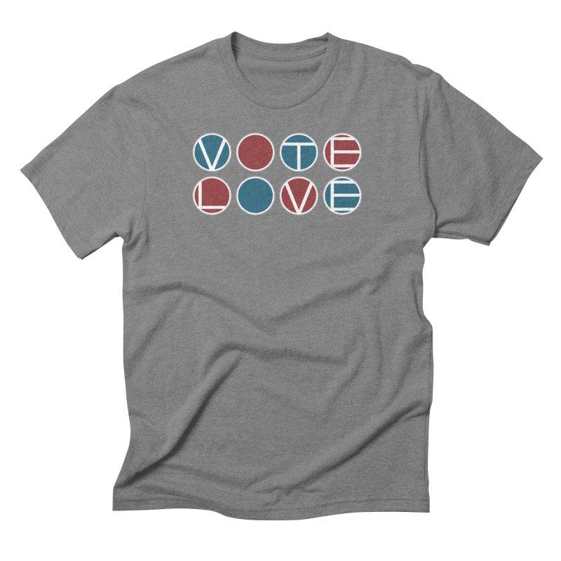 Vote Love Men's Triblend T-Shirt by Puttyhead's Artist Shop