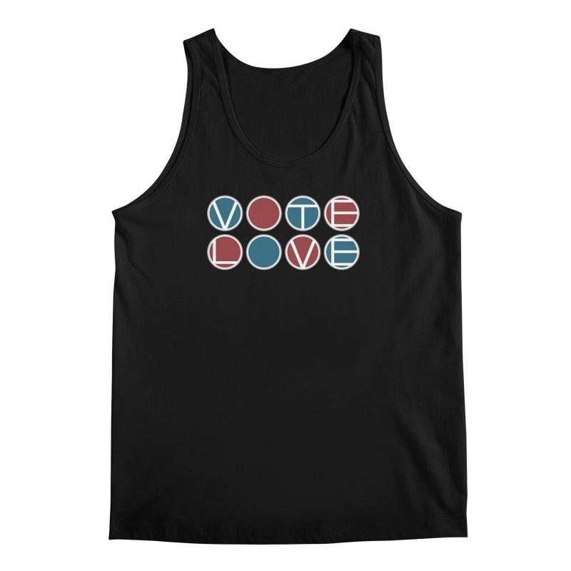 Vote Love Men's Regular Tank by Puttyhead's Artist Shop
