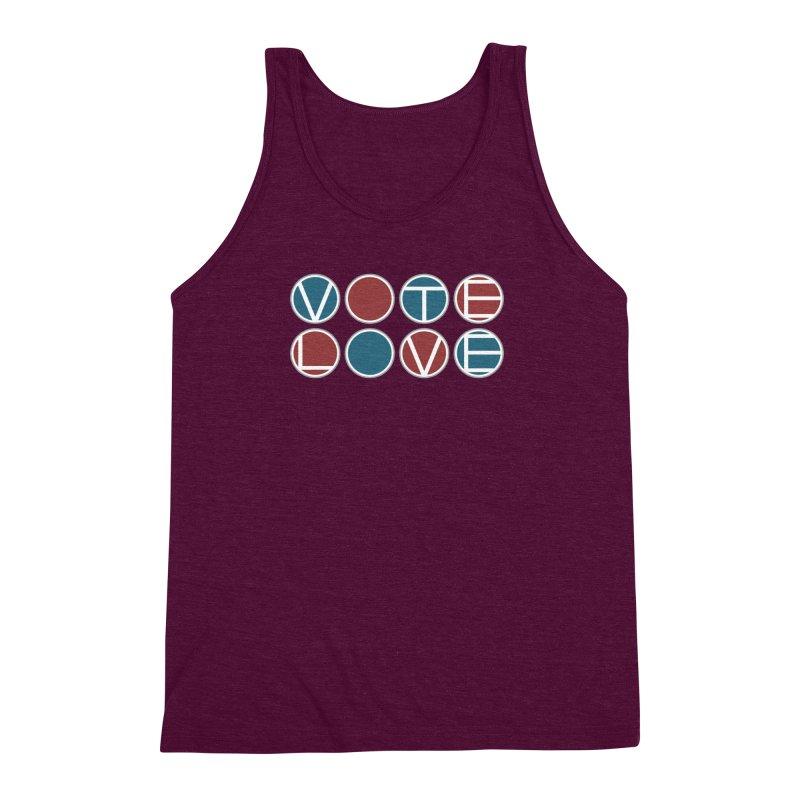 Vote Love Men's Triblend Tank by Puttyhead's Artist Shop