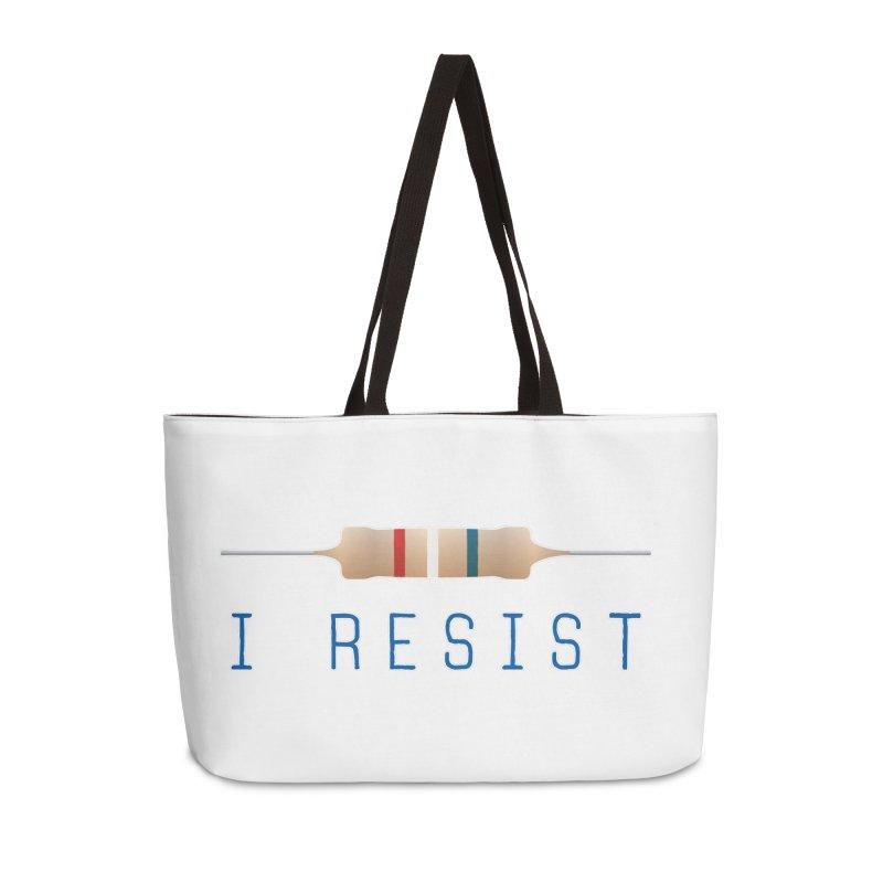I Resist Accessories Weekender Bag Bag by Puttyhead's Artist Shop