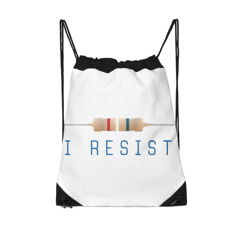 I Resist Accessories Drawstring Bag Bag by Puttyhead's Artist Shop