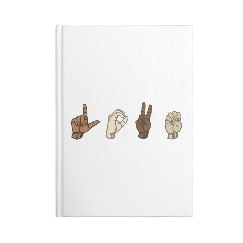 Love Sign Accessories Notebook by Puttyhead's Artist Shop