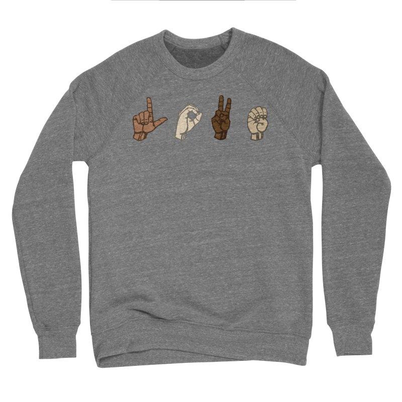 Love Sign Men's Sponge Fleece Sweatshirt by Puttyhead's Artist Shop