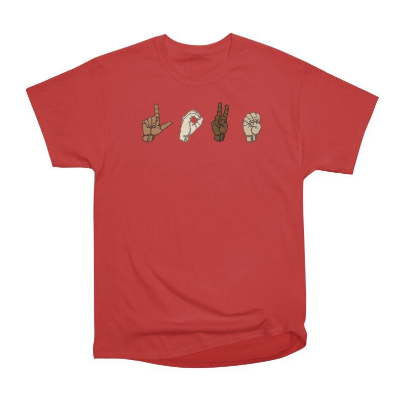 Love Sign Women's Heavyweight Unisex T-Shirt by Puttyhead's Artist Shop