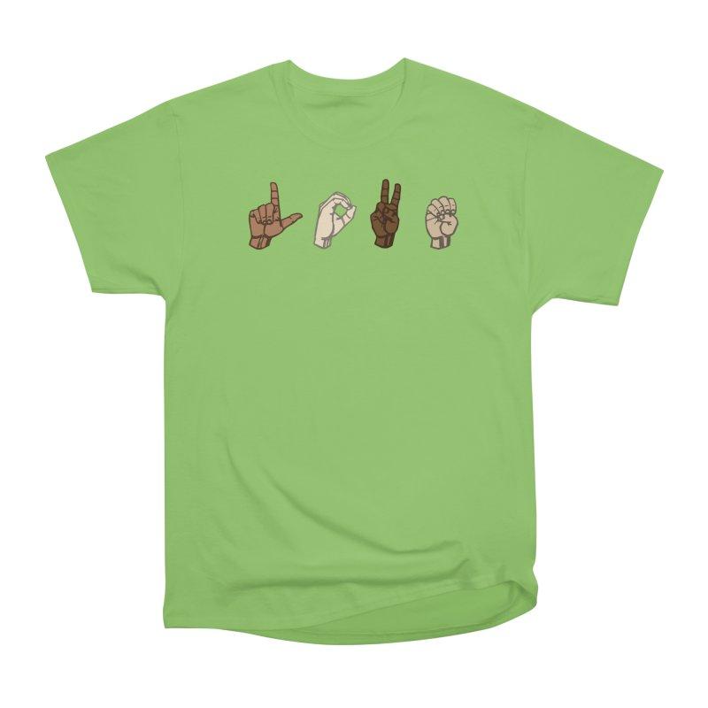 Love Sign Men's Heavyweight T-Shirt by Puttyhead's Artist Shop