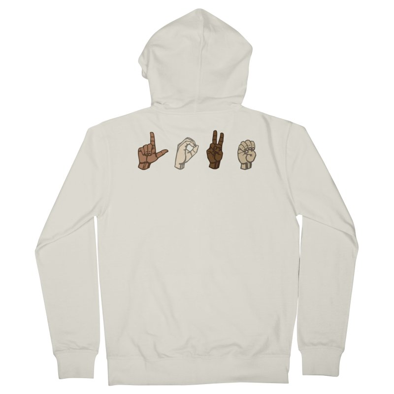 Love Sign Women's French Terry Zip-Up Hoody by Puttyhead's Artist Shop