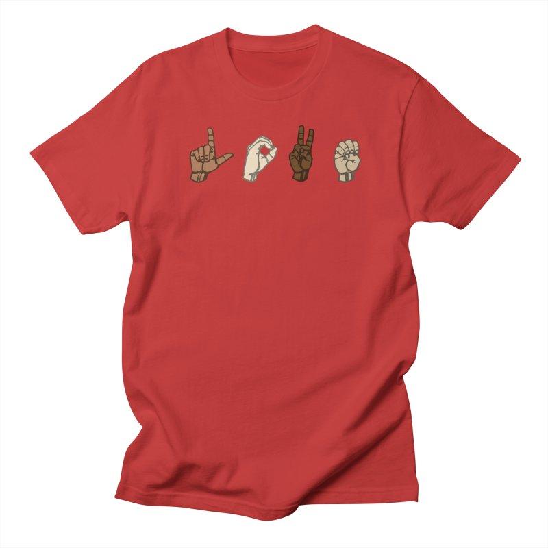 Love Sign Women's Regular Unisex T-Shirt by Puttyhead's Artist Shop