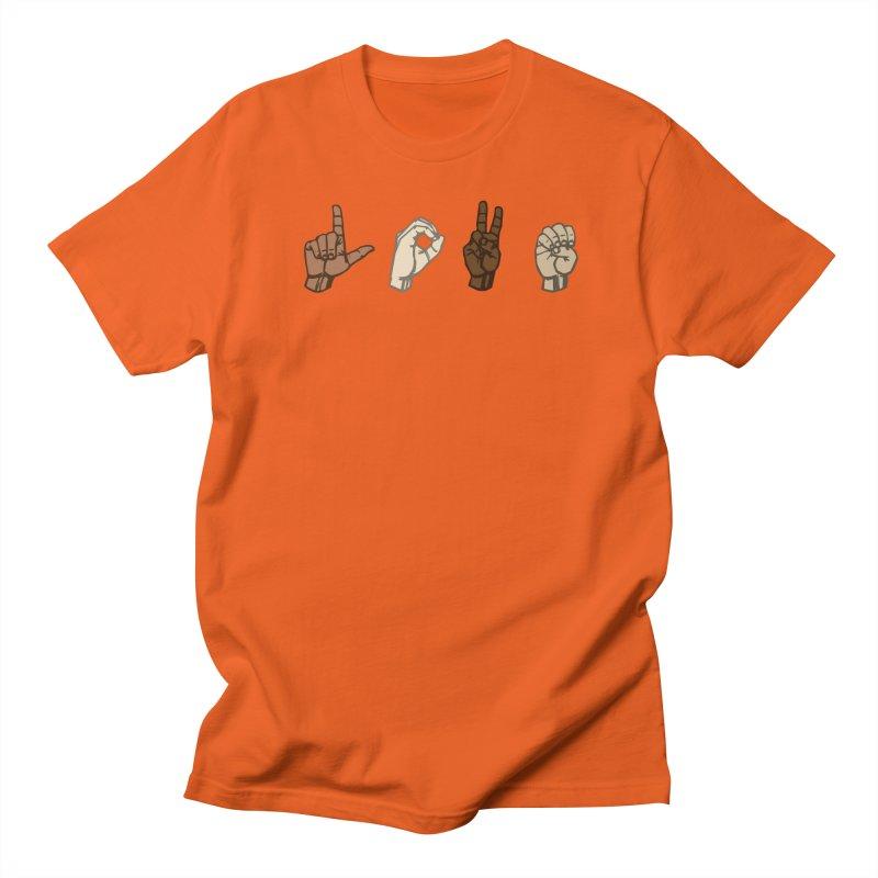 Love Sign Men's Regular T-Shirt by Puttyhead's Artist Shop