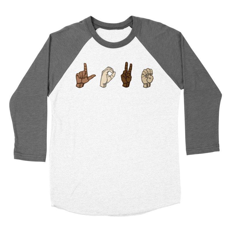 Love Sign Women's Baseball Triblend Longsleeve T-Shirt by Puttyhead's Artist Shop