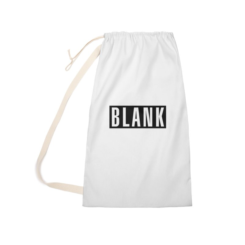 BLANK T-shirt Accessories Laundry Bag Bag by Puttyhead's Artist Shop