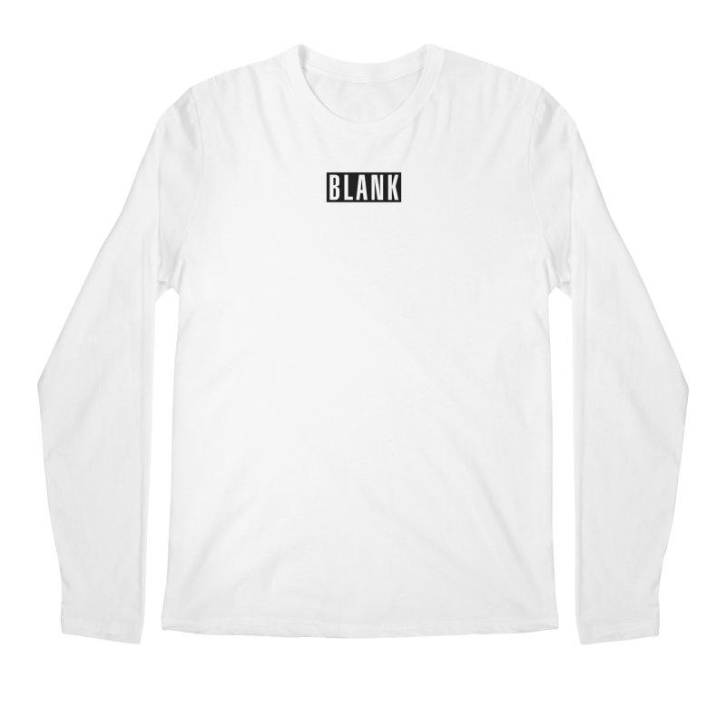 BLANK T-shirt Men's Regular Longsleeve T-Shirt by Puttyhead's Artist Shop