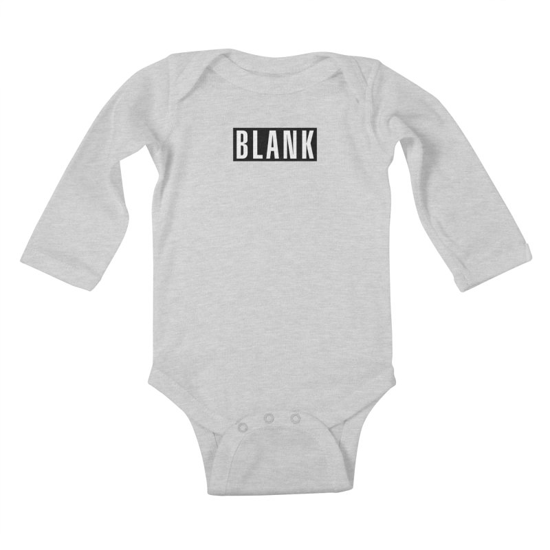 BLANK T-shirt Kids Baby Longsleeve Bodysuit by Puttyhead's Artist Shop