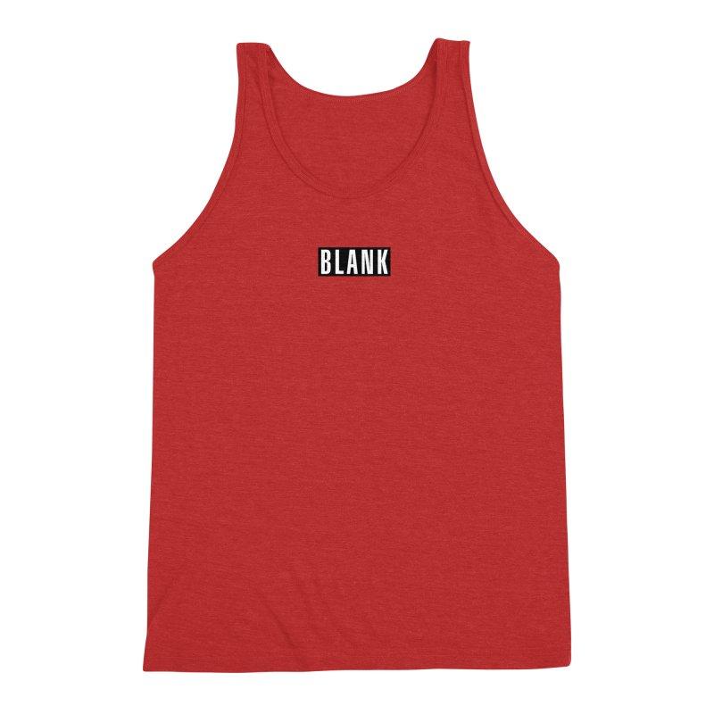 BLANK T-shirt Men's Triblend Tank by Puttyhead's Artist Shop
