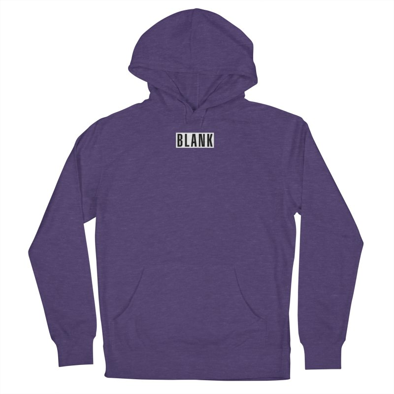 BLANK T-shirt (dark) Women's French Terry Pullover Hoody by Puttyhead's Artist Shop