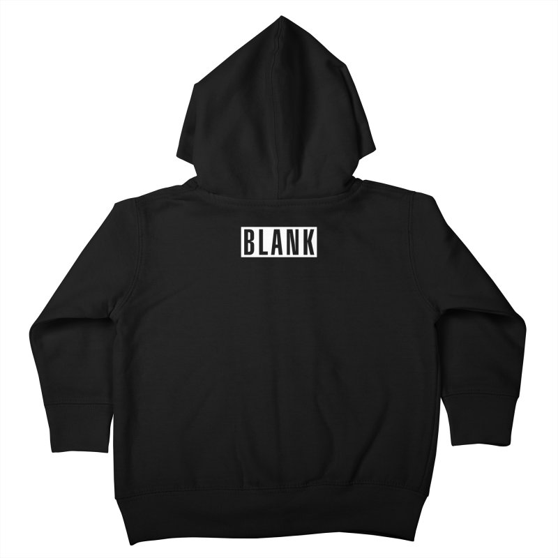 BLANK T-shirt (dark) Kids Toddler Zip-Up Hoody by Puttyhead's Artist Shop