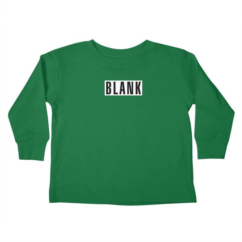 BLANK T-shirt (dark) Kids Toddler Longsleeve T-Shirt by Puttyhead's Artist Shop