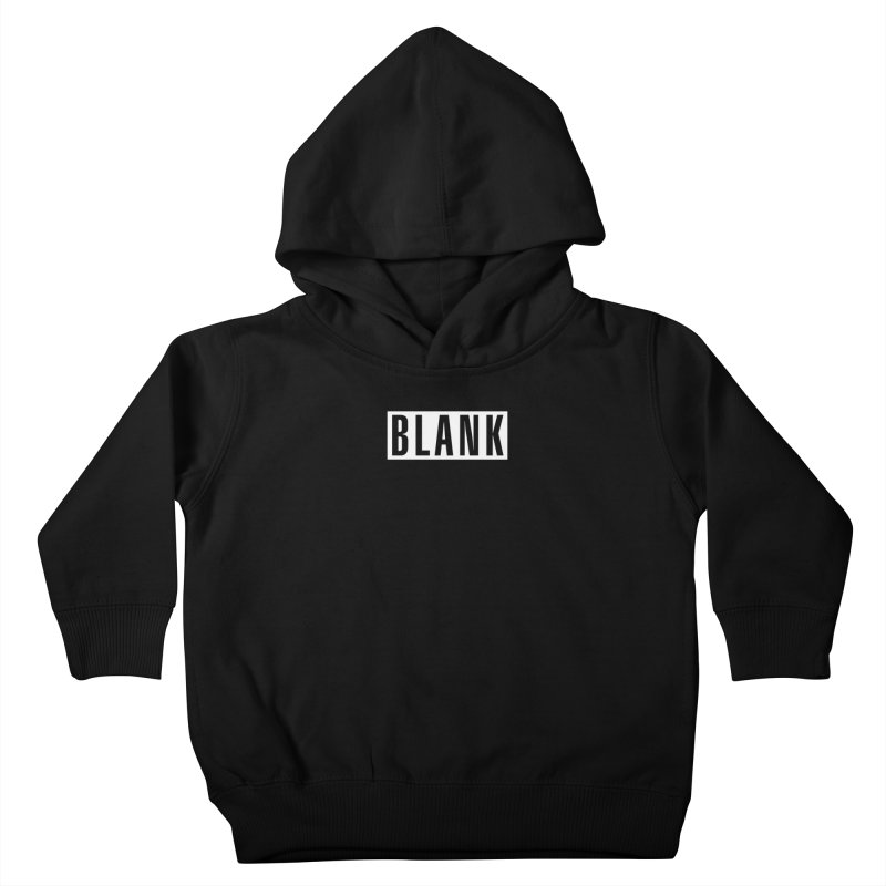 BLANK T-shirt (dark) Kids Toddler Pullover Hoody by Puttyhead's Artist Shop