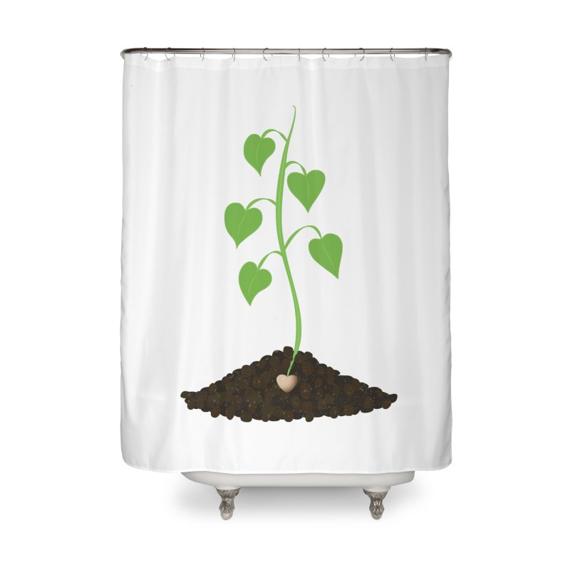 Love grows Home Shower Curtain by Puttyhead's Artist Shop
