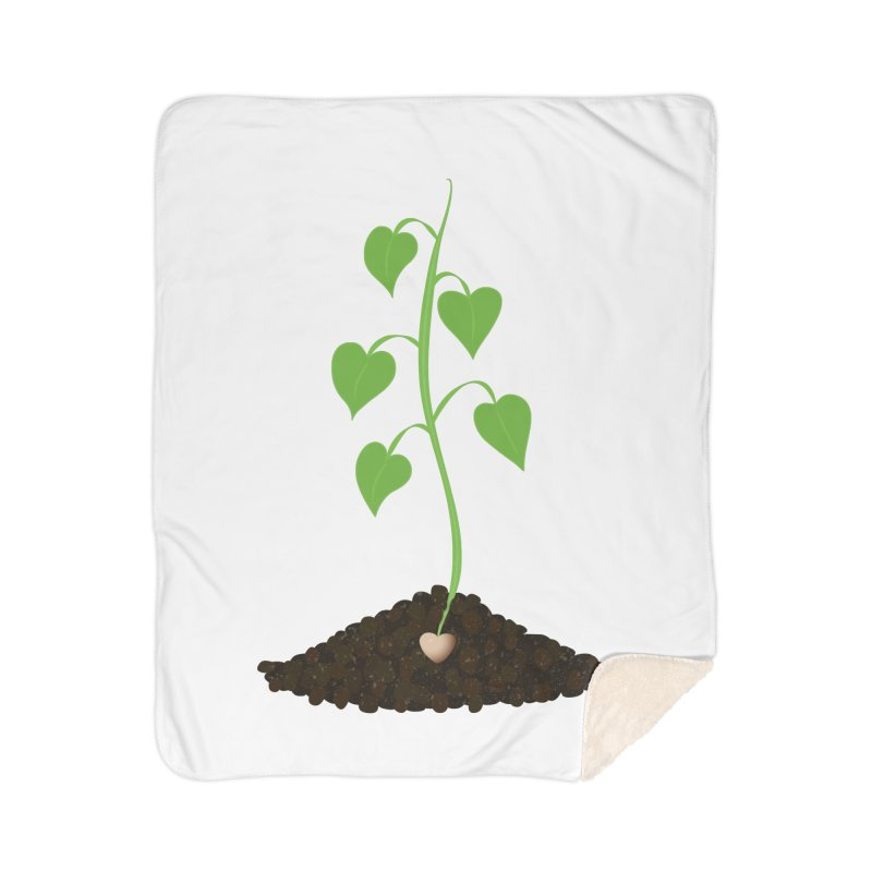 Love grows Home Sherpa Blanket Blanket by Puttyhead's Artist Shop