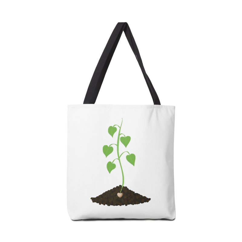 Love grows Accessories Tote Bag Bag by Puttyhead's Artist Shop