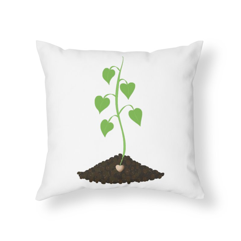 Love grows Home Throw Pillow by Puttyhead's Artist Shop