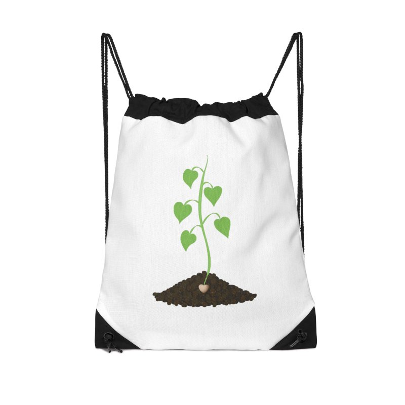 Love grows Accessories Drawstring Bag Bag by Puttyhead's Artist Shop
