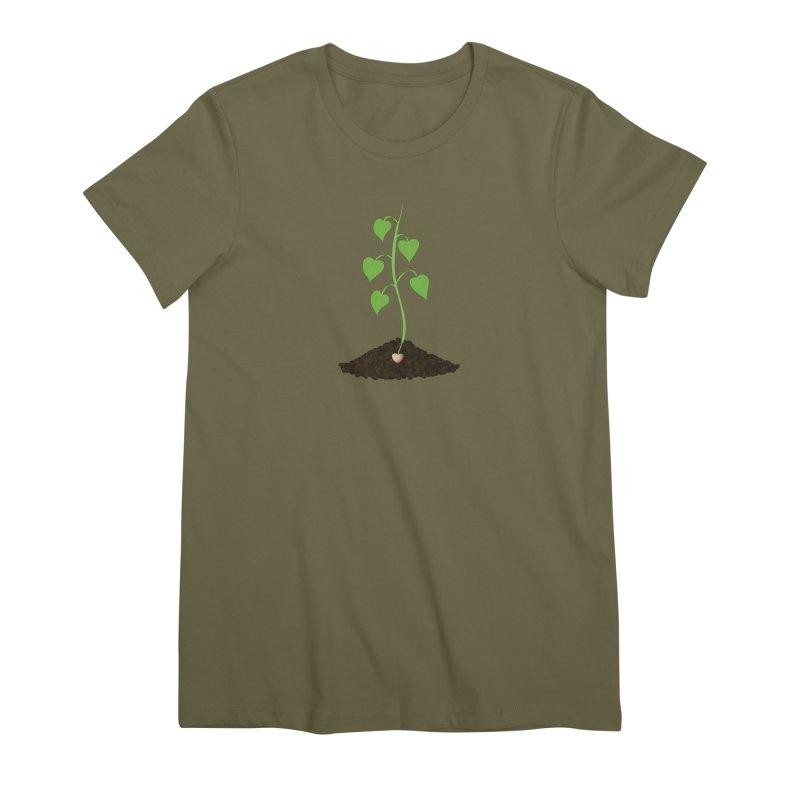 Love grows Women's Premium T-Shirt by Puttyhead's Artist Shop