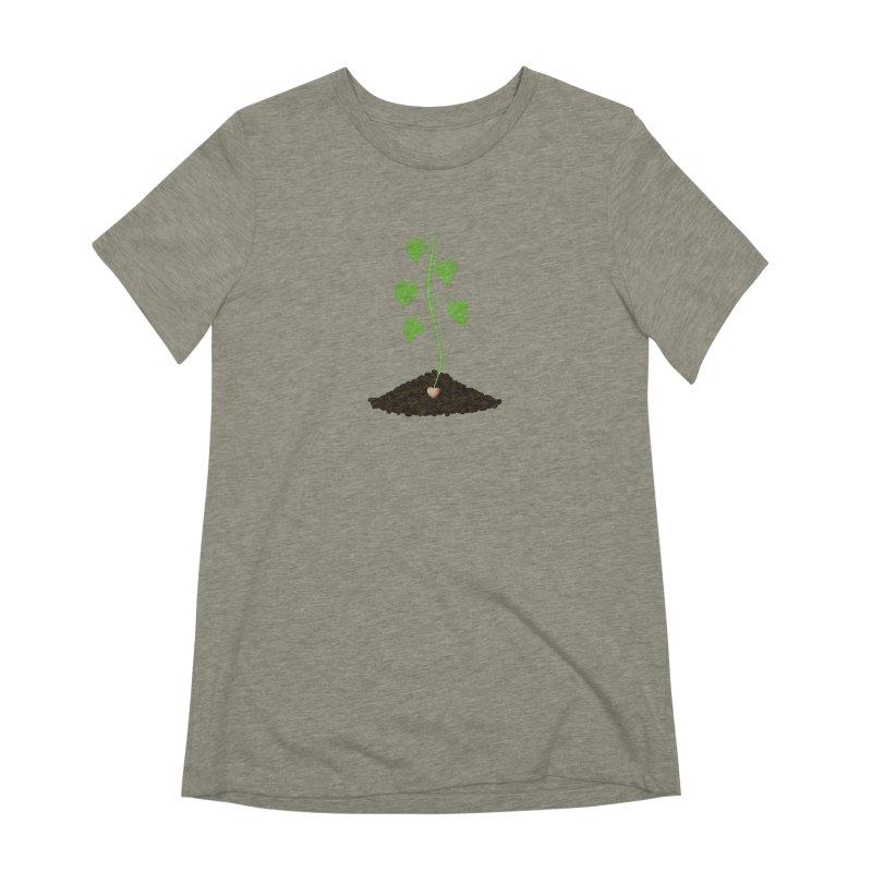 Love grows Women's Extra Soft T-Shirt by Puttyhead's Artist Shop