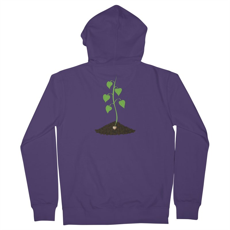 Love grows Women's French Terry Zip-Up Hoody by Puttyhead's Artist Shop