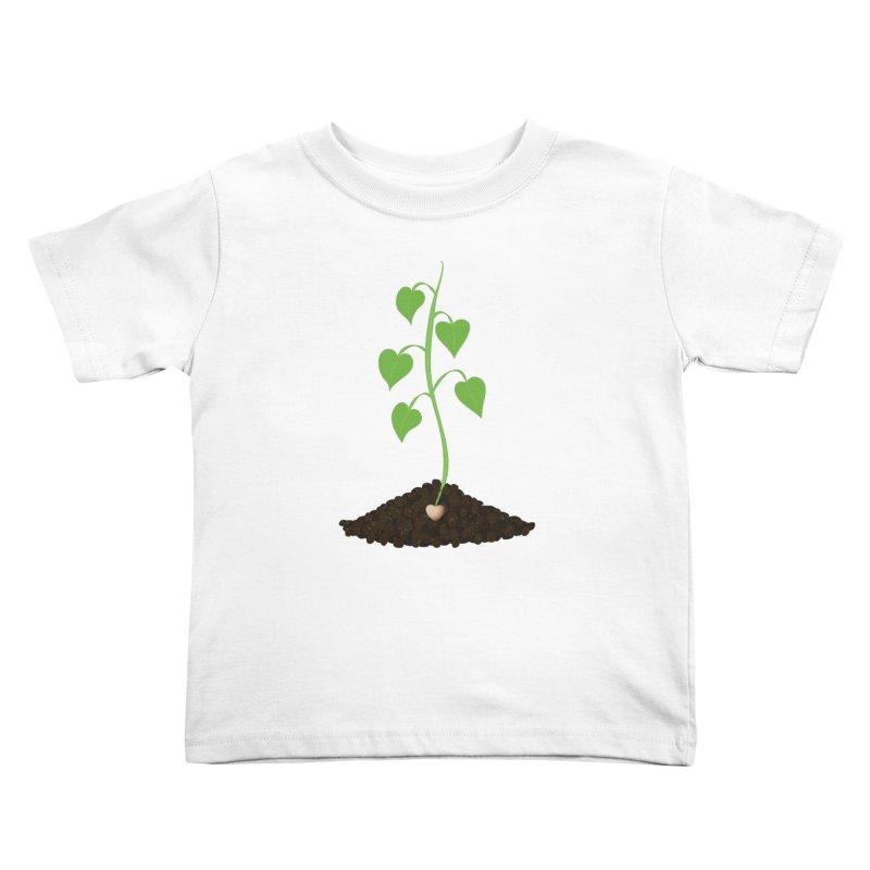 Love grows Kids Toddler T-Shirt by Puttyhead's Artist Shop