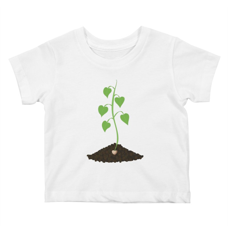 Love grows Kids Baby T-Shirt by Puttyhead's Artist Shop