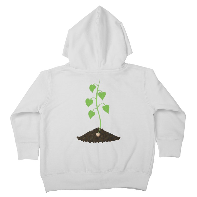 Love grows Kids Toddler Zip-Up Hoody by Puttyhead's Artist Shop