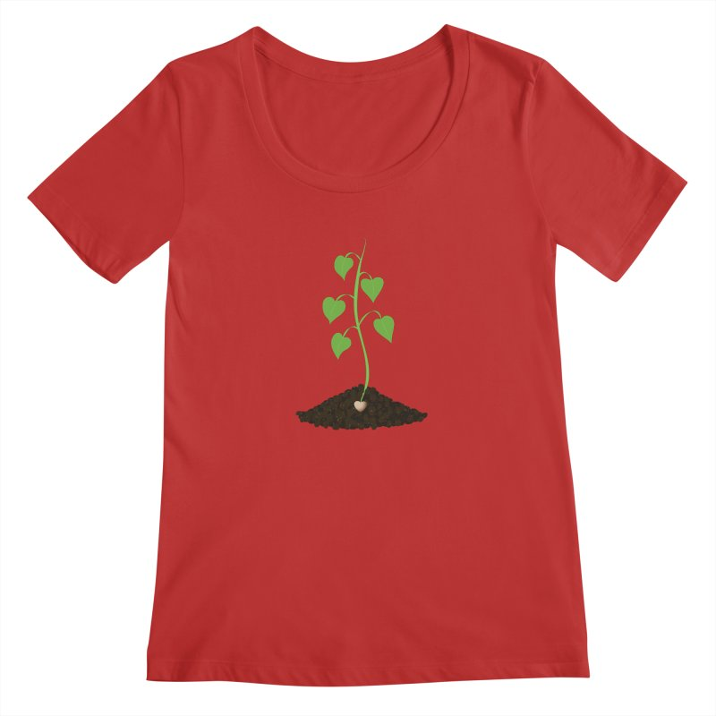 Love grows Women's Regular Scoop Neck by Puttyhead's Artist Shop