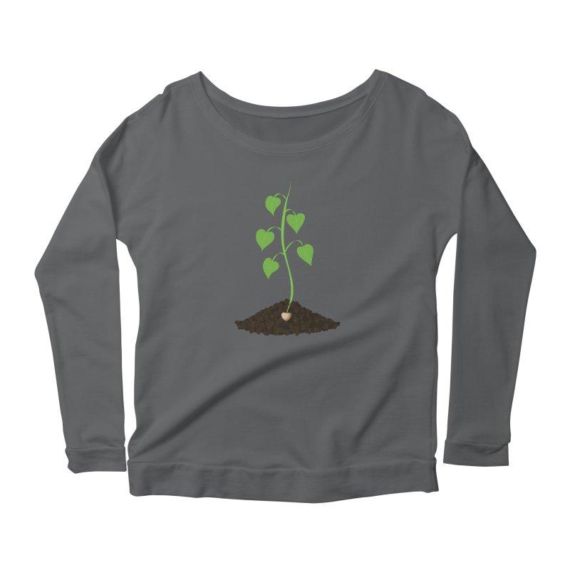 Love grows Women's Scoop Neck Longsleeve T-Shirt by Puttyhead's Artist Shop