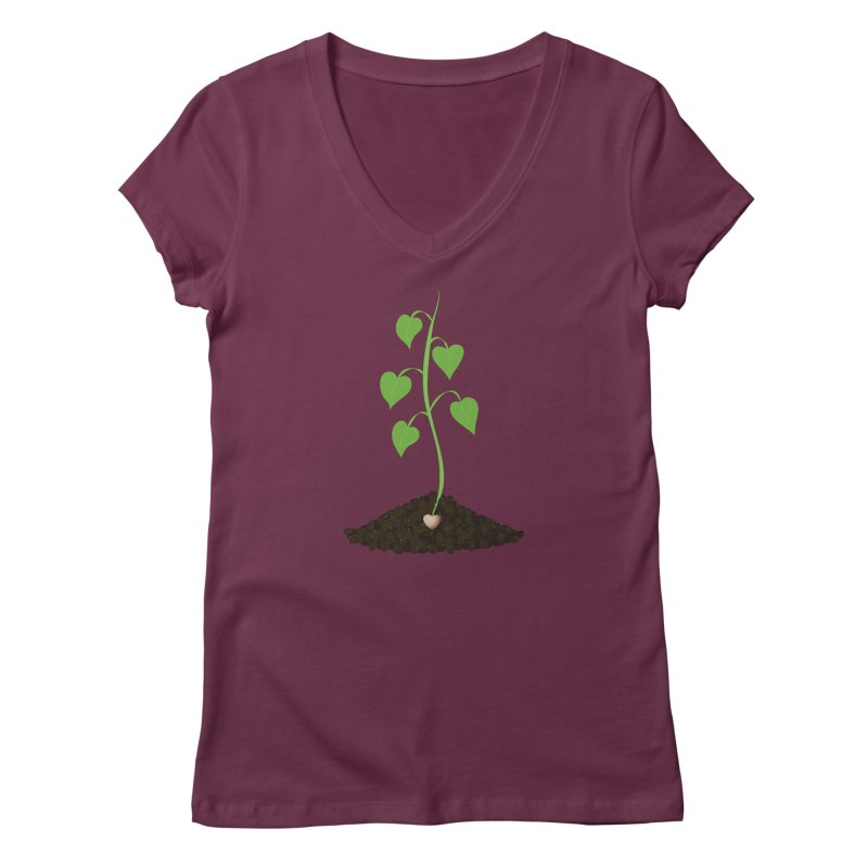 Love grows Women's Regular V-Neck by Puttyhead's Artist Shop