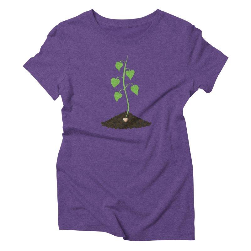 Love grows Women's Triblend T-Shirt by Puttyhead's Artist Shop