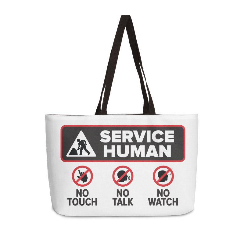 Service Human Accessories Weekender Bag Bag by Puttyhead's Artist Shop