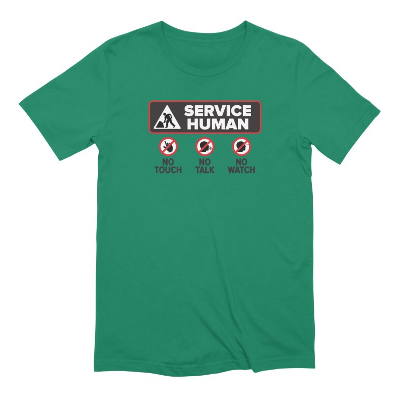 Service Human Men's Extra Soft T-Shirt by Puttyhead's Artist Shop