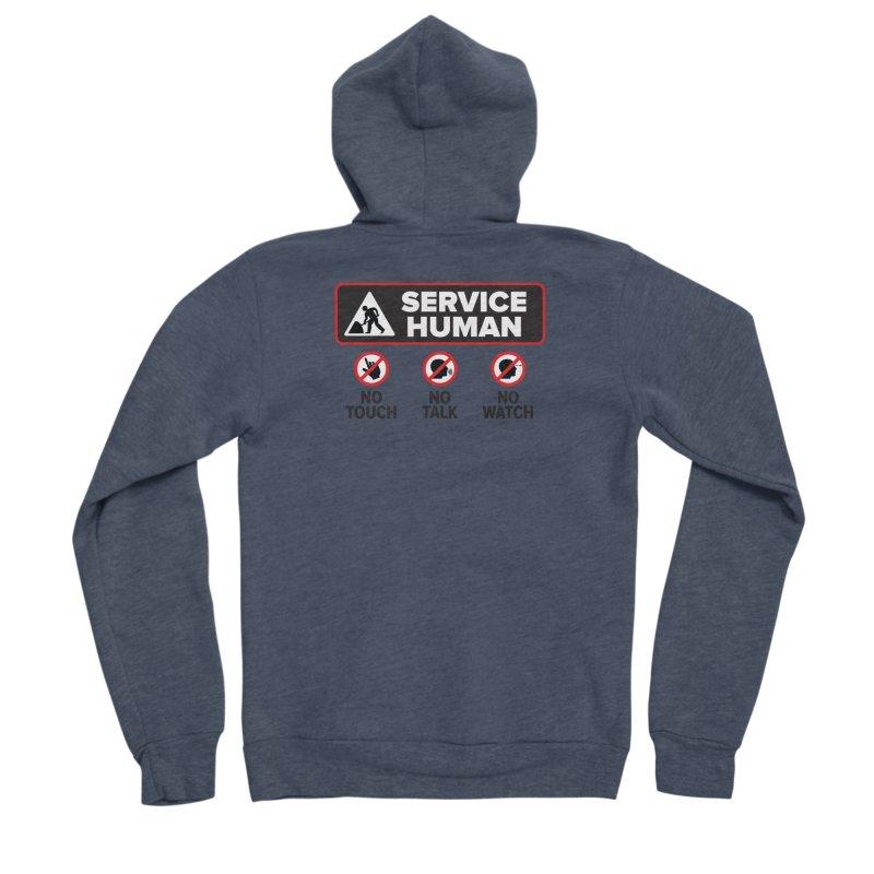Service Human Men's Sponge Fleece Zip-Up Hoody by Puttyhead's Artist Shop