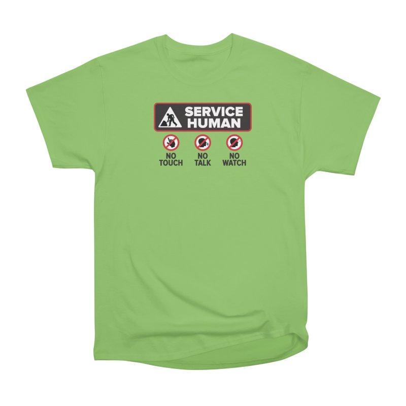 Service Human Women's Heavyweight Unisex T-Shirt by Puttyhead's Artist Shop