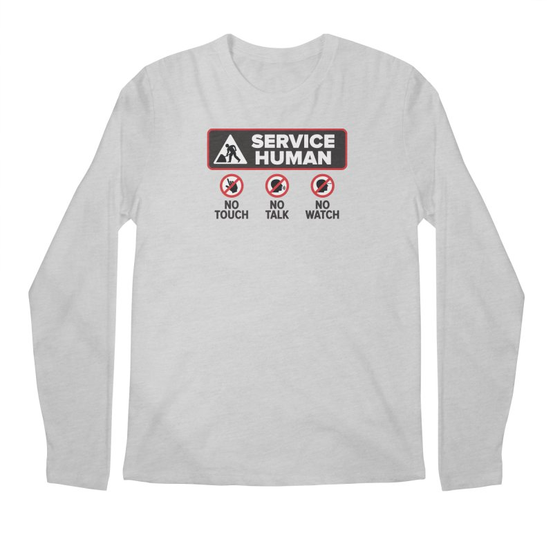 Service Human Men's Regular Longsleeve T-Shirt by Puttyhead's Artist Shop