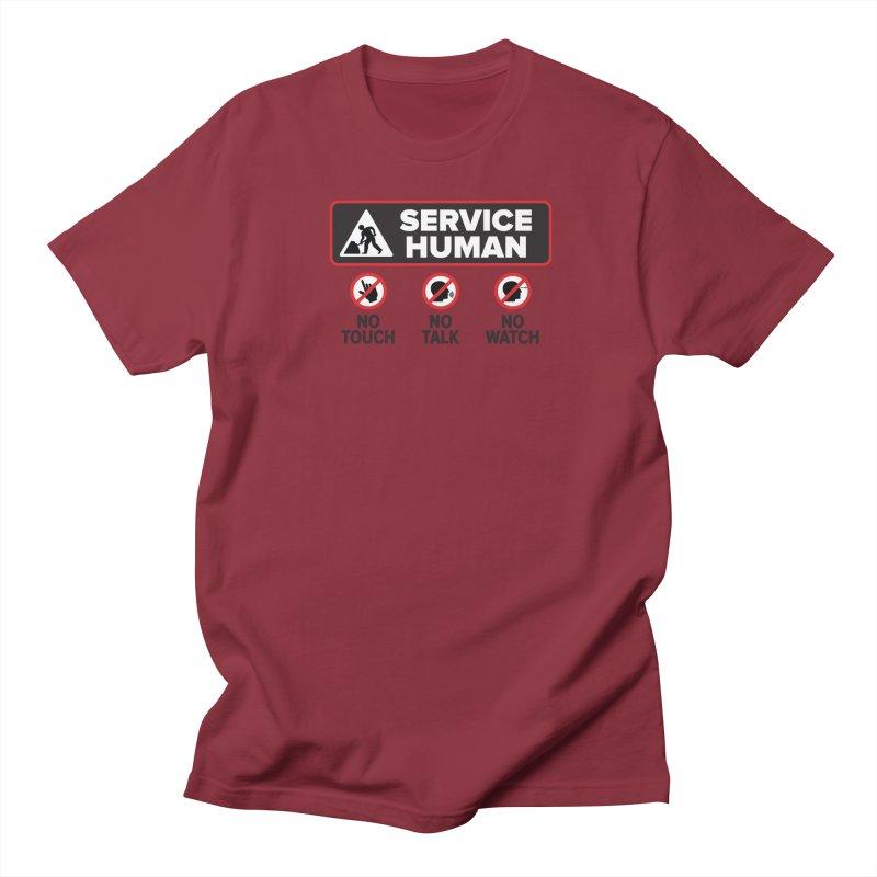 Service Human Men's Regular T-Shirt by Puttyhead's Artist Shop