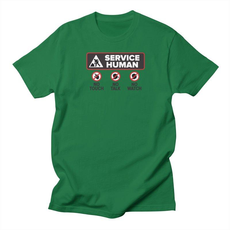 Service Human Women's Regular Unisex T-Shirt by Puttyhead's Artist Shop